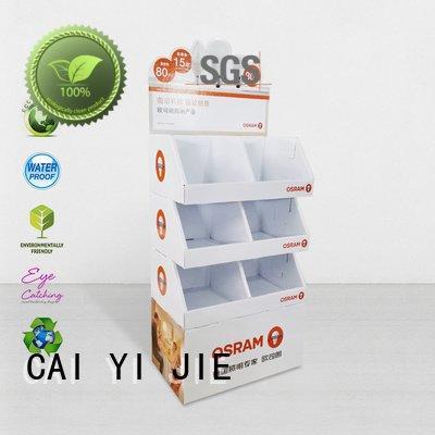 cardboard greeting card display stand cardboard sale stairglossy stainless CAI YI JIE