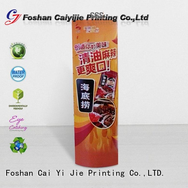 custom standee universal for goods CAI YI JIE