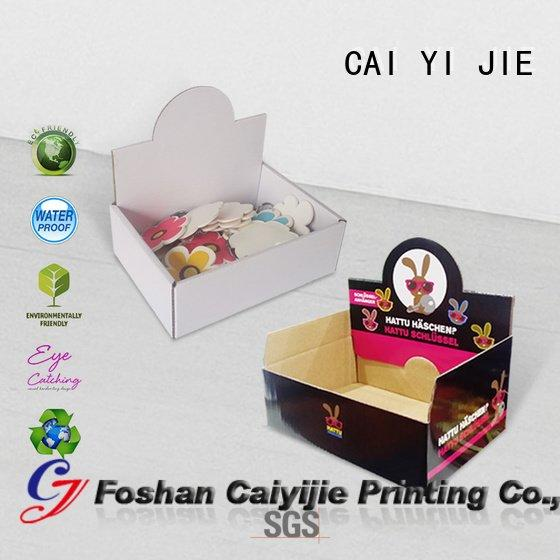 chain units counter custom cardboard counter displays CAI YI JIE